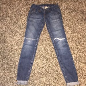 Distressed true religion jeans